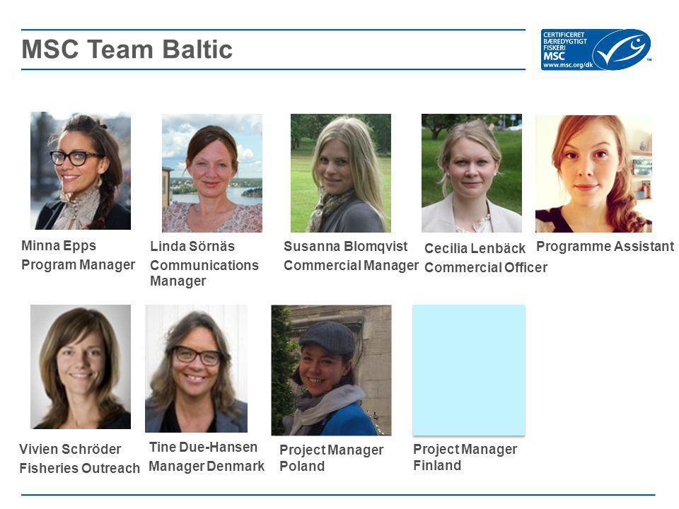 MSC Team Baltic Minna Epps Program Manager Linda Sörnäs