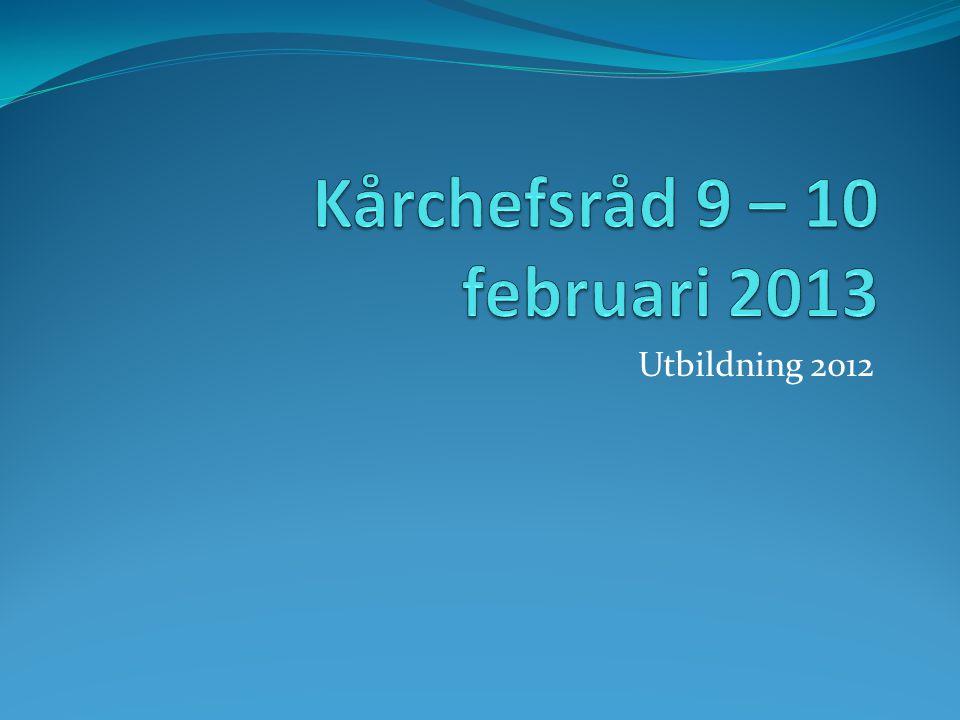 Kårchefsråd 9 – 10 februari 2013