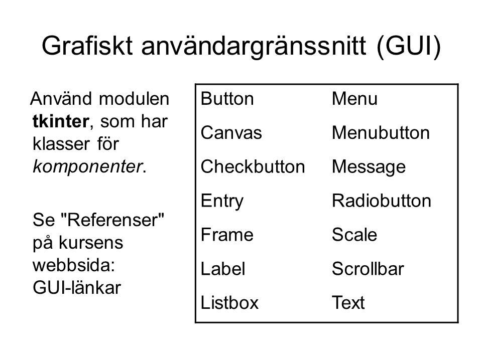 Grafiskt användargränssnitt (GUI)