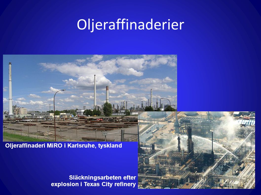 Oljeraffinaderier Oljeraffinaderi MiRO i Karlsruhe, tyskland