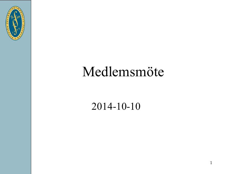 Medlemsmöte 2014-10-10