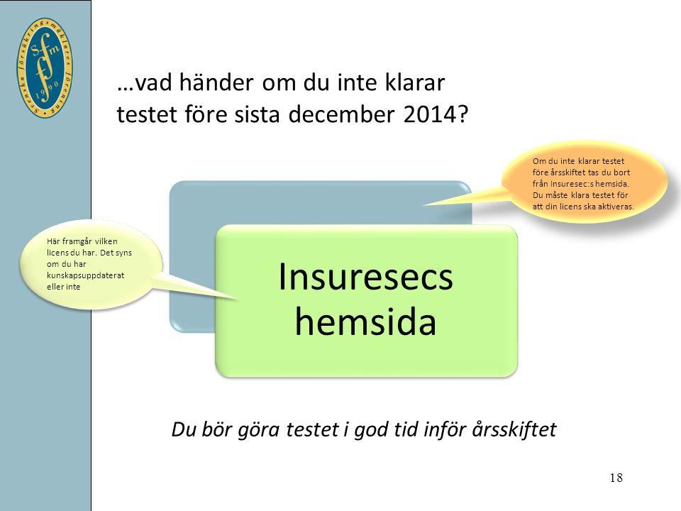…vad händer om du inte klarar testet före sista december 2014