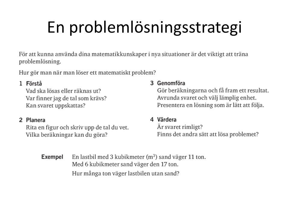 En problemlösningsstrategi