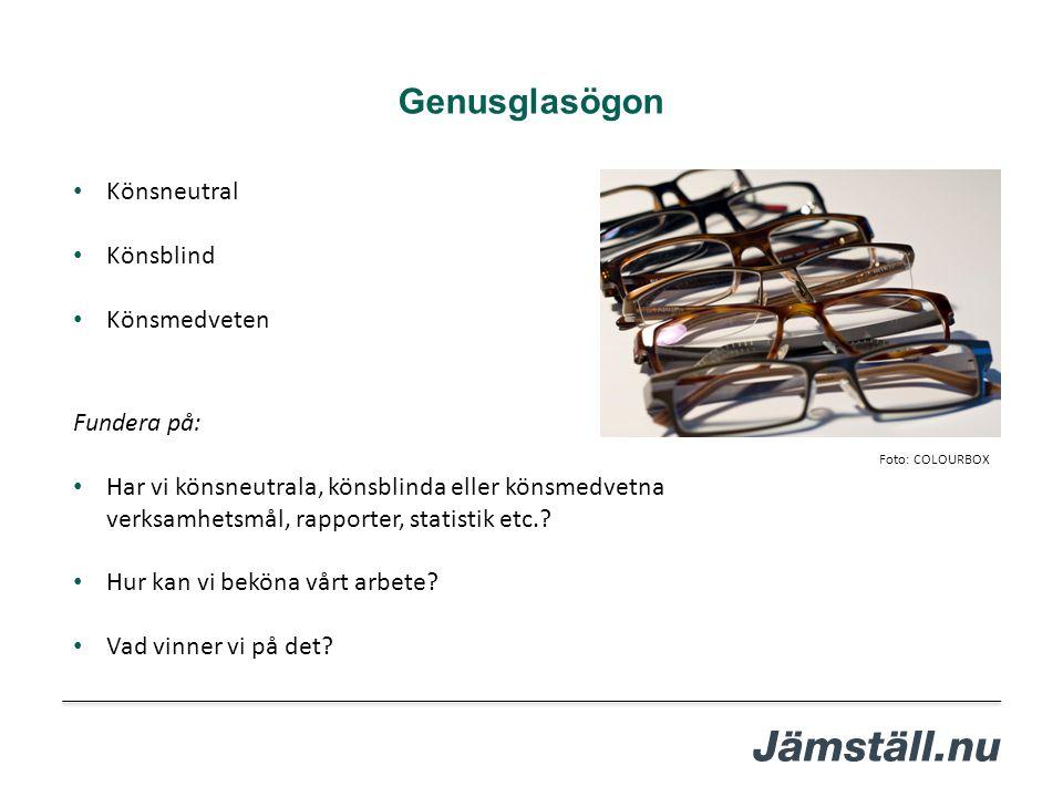 Genusglasögon Könsneutral Könsblind Könsmedveten Fundera på: