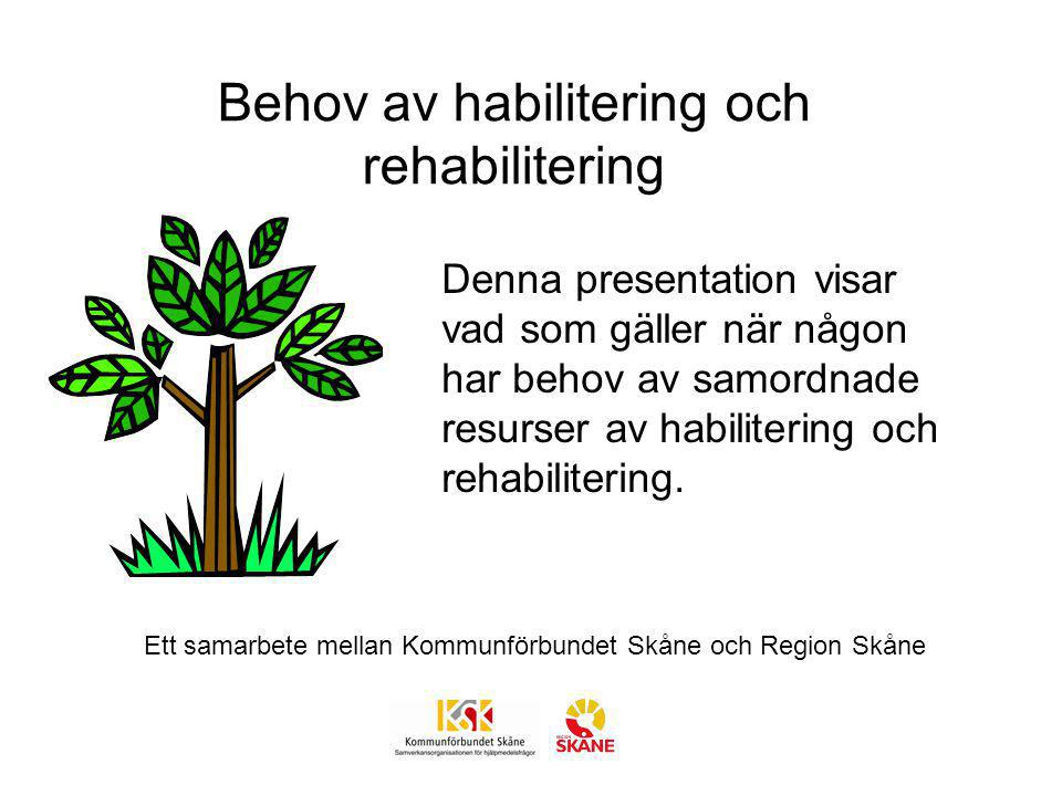 Behov av habilitering och rehabilitering