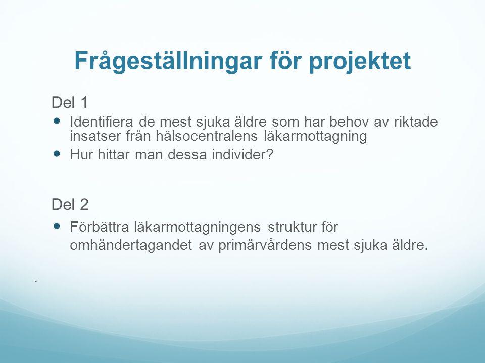 Frågeställningar för projektet