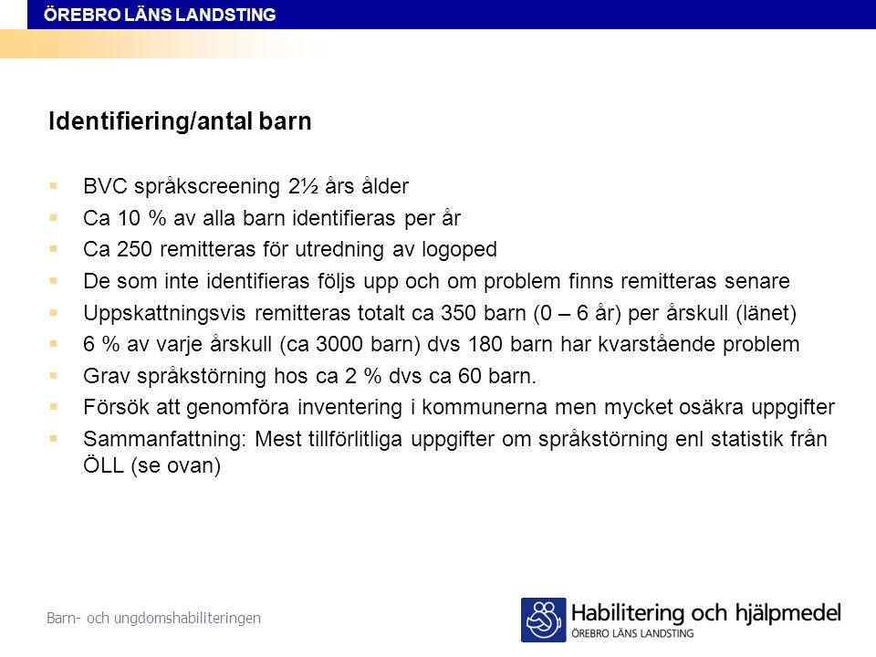 Identifiering/antal barn