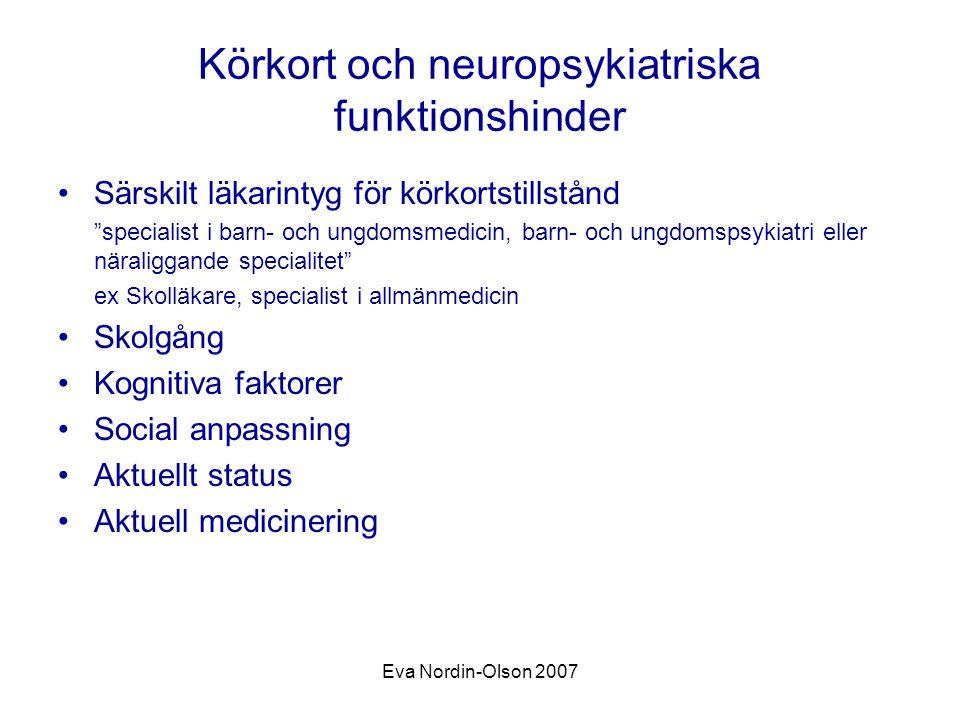 Körkort och neuropsykiatriska funktionshinder