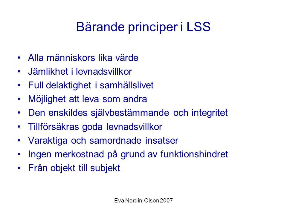 Bärande principer i LSS