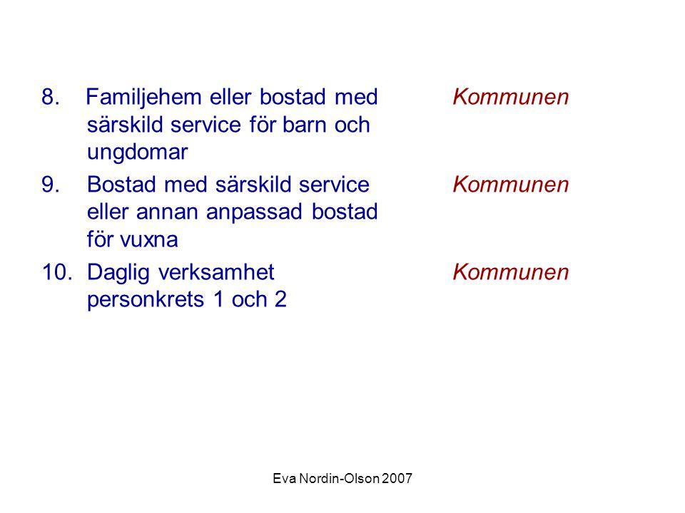 Daglig verksamhet Kommunen personkrets 1 och 2