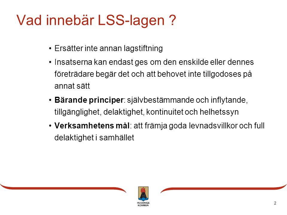 Vad innebär LSS-lagen Ersätter inte annan lagstiftning