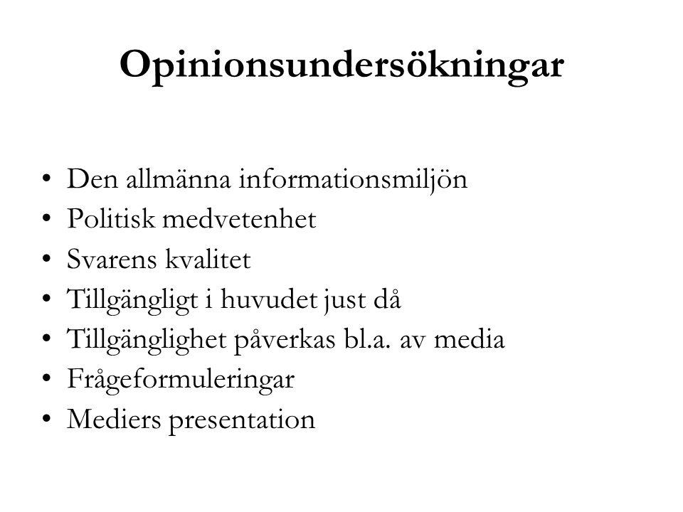 Opinionsundersökningar