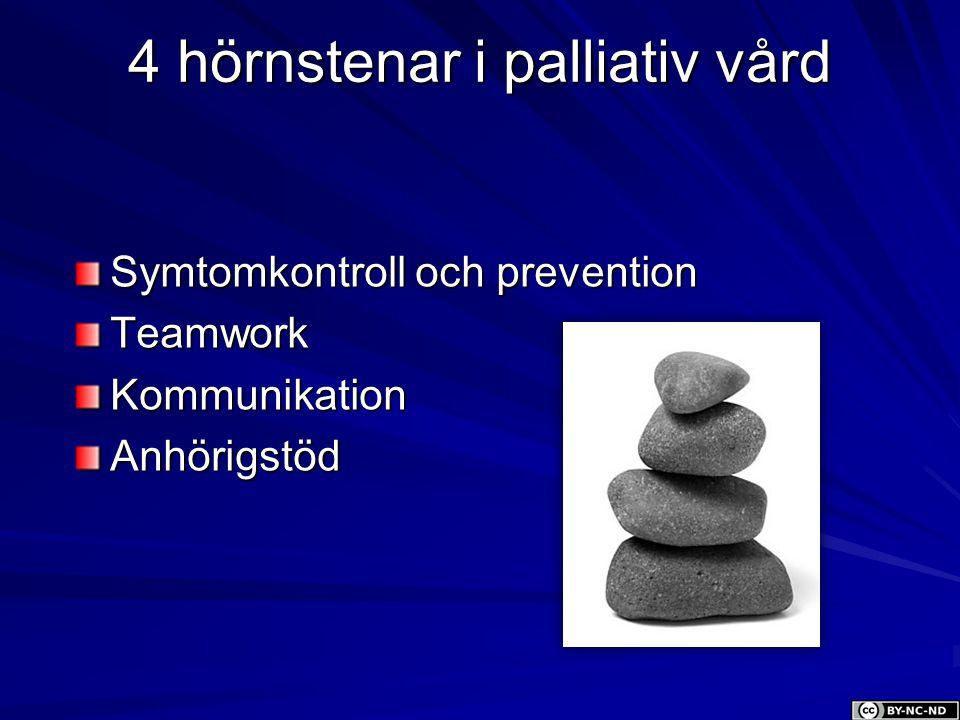 4 hörnstenar i palliativ vård