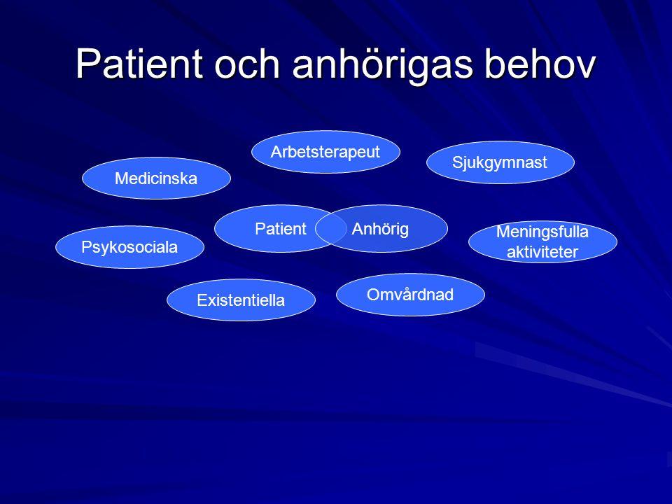 Patient och anhörigas behov