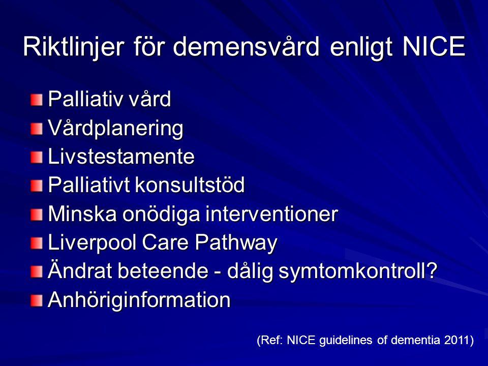 Riktlinjer för demensvård enligt NICE