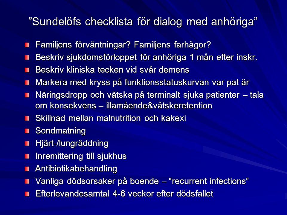 Sundelöfs checklista för dialog med anhöriga