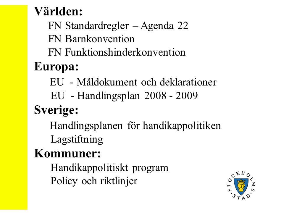 EU - Måldokument och deklarationer Sverige:
