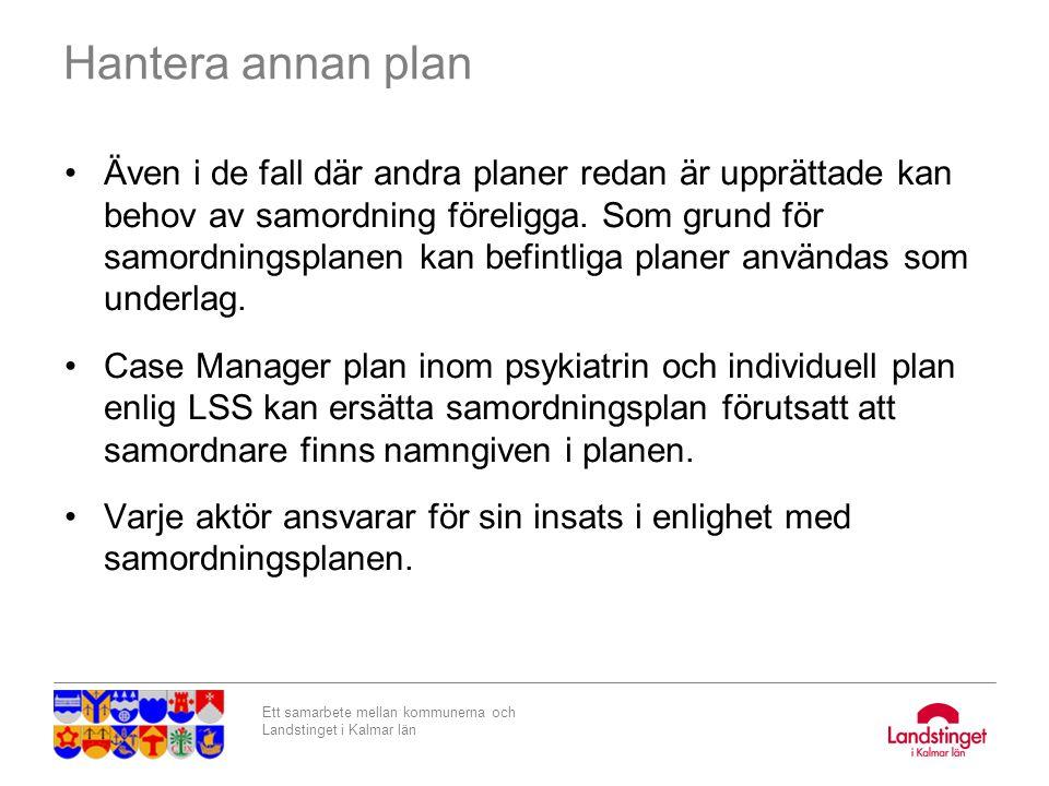 Hantera annan plan