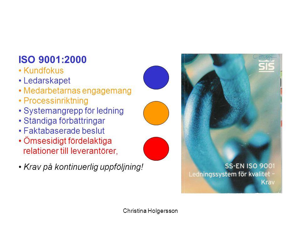 ISO 9001:2000 Kundfokus Ledarskapet Medarbetarnas engagemang