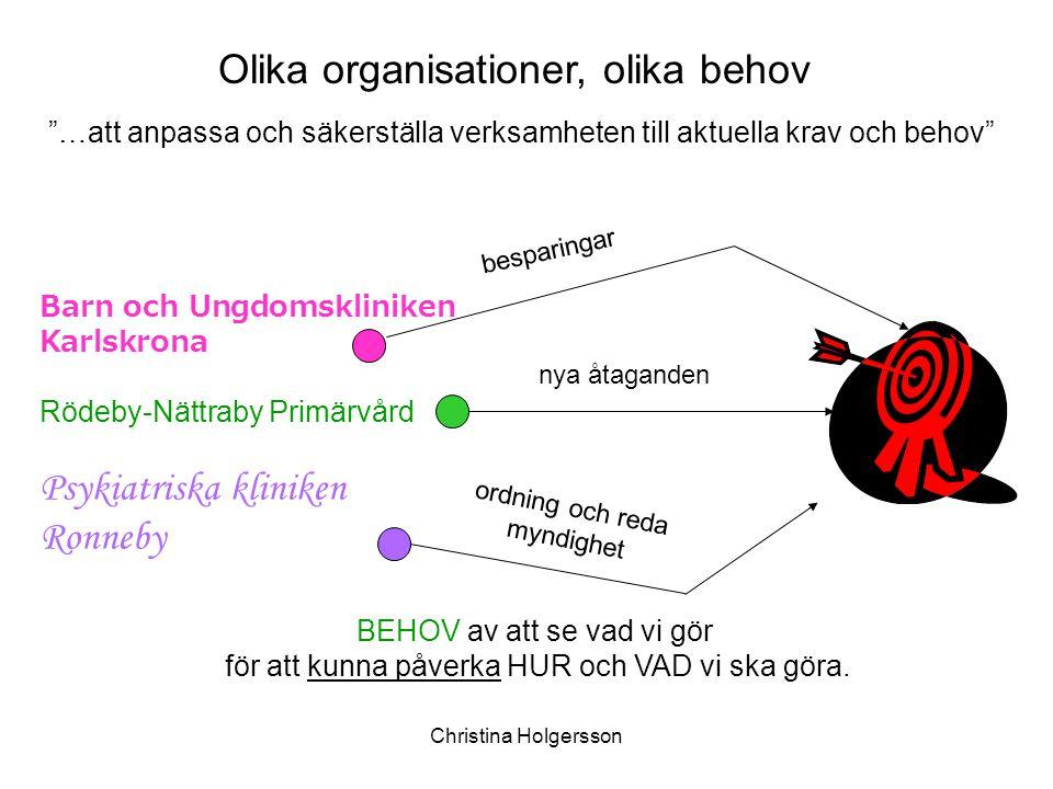 Olika organisationer, olika behov