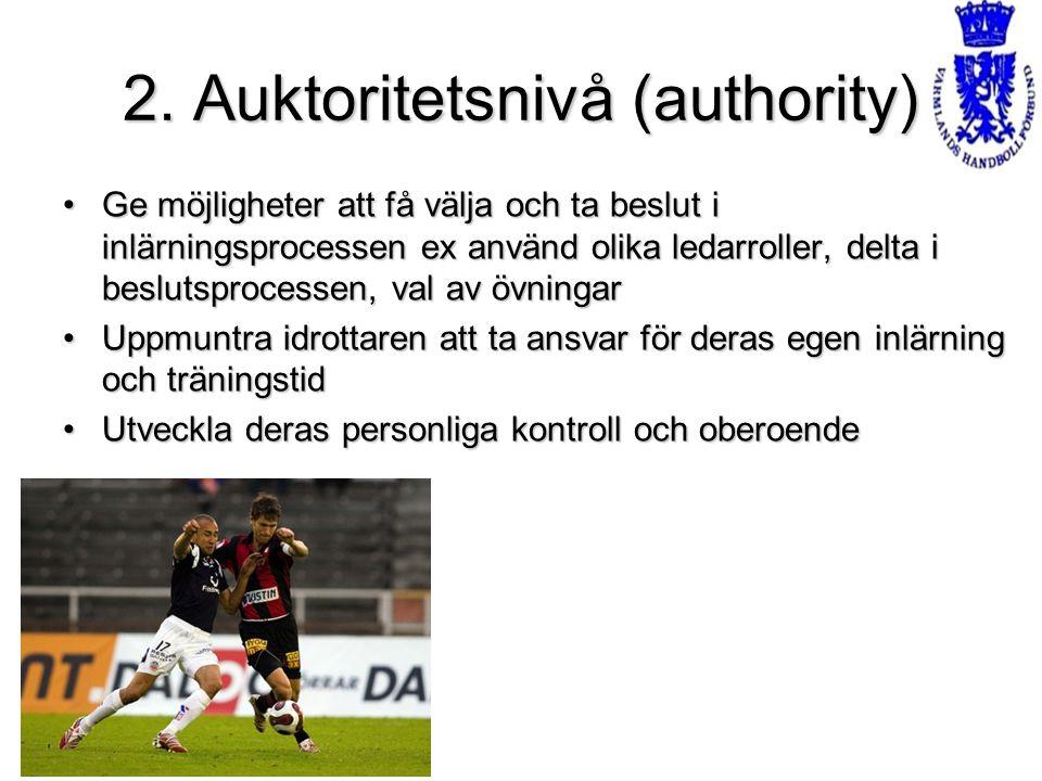 2. Auktoritetsnivå (authority)