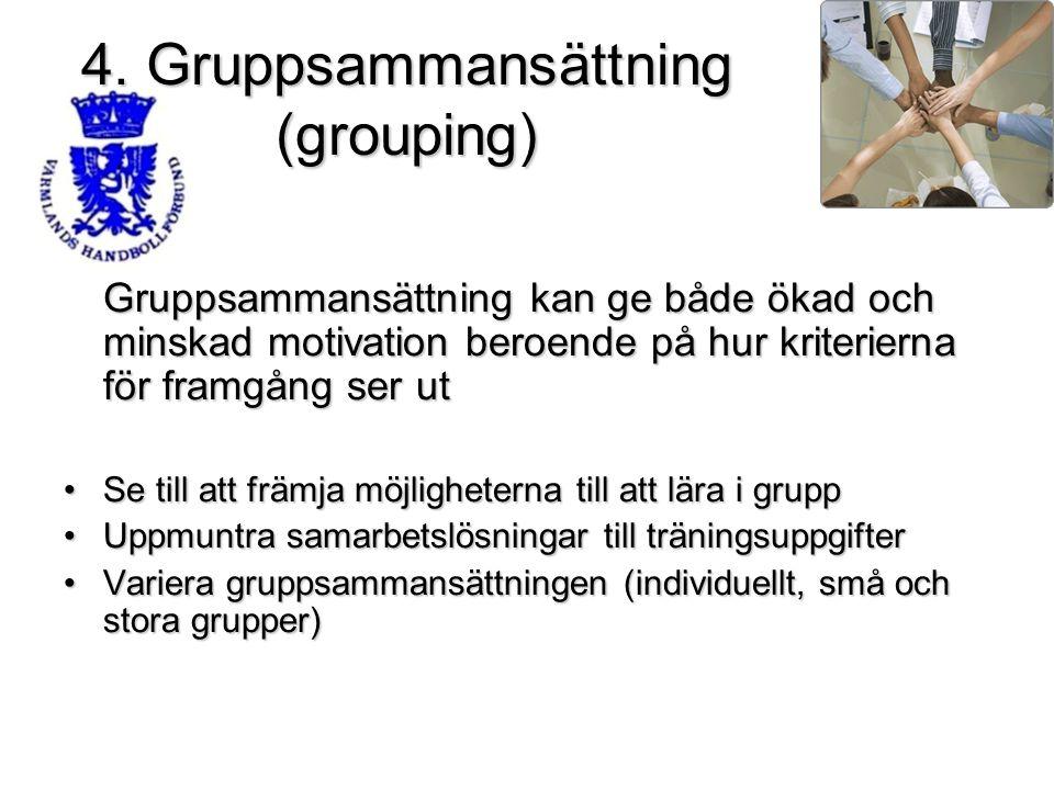 4. Gruppsammansättning (grouping)