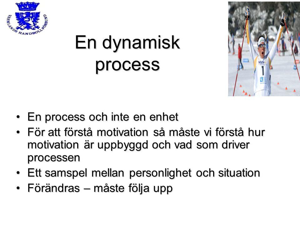 En dynamisk process En process och inte en enhet