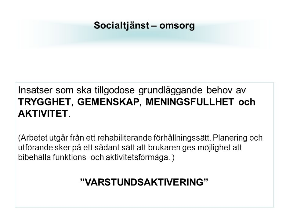 VARSTUNDSAKTIVERING