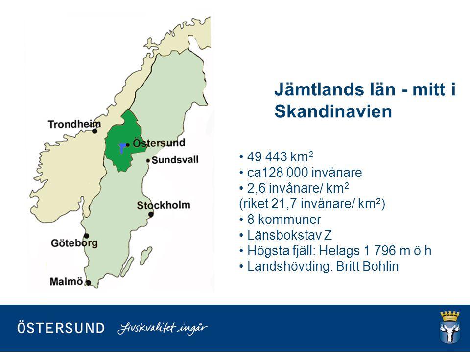 Jämtlands län - mitt i Skandinavien