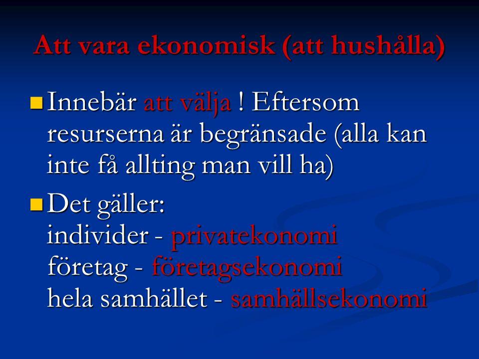 Att vara ekonomisk (att hushålla)