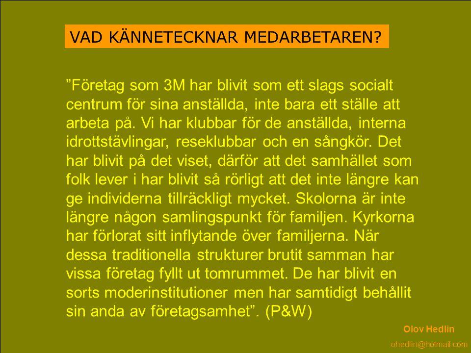 VAD KÄNNETECKNAR MEDARBETAREN