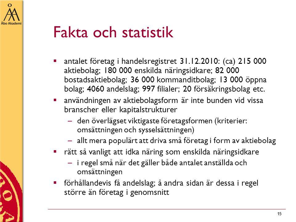 Fakta och statistik
