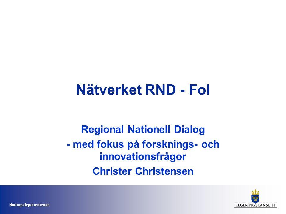 Nätverket RND - FoI Regional Nationell Dialog