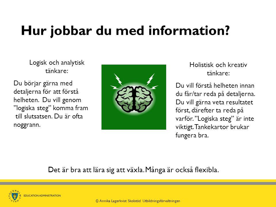 Hur jobbar du med information