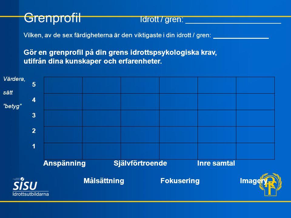 Grenprofil Idrott / gren: _____________________