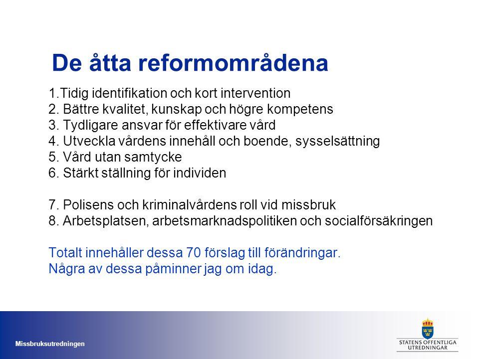 De åtta reformområdena