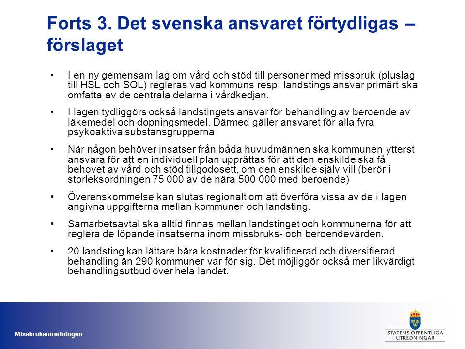 Forts 3. Det svenska ansvaret förtydligas – förslaget