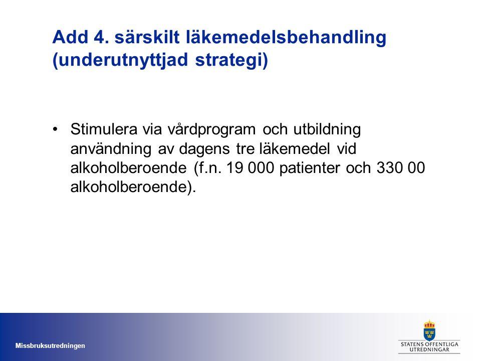 Add 4. särskilt läkemedelsbehandling (underutnyttjad strategi)