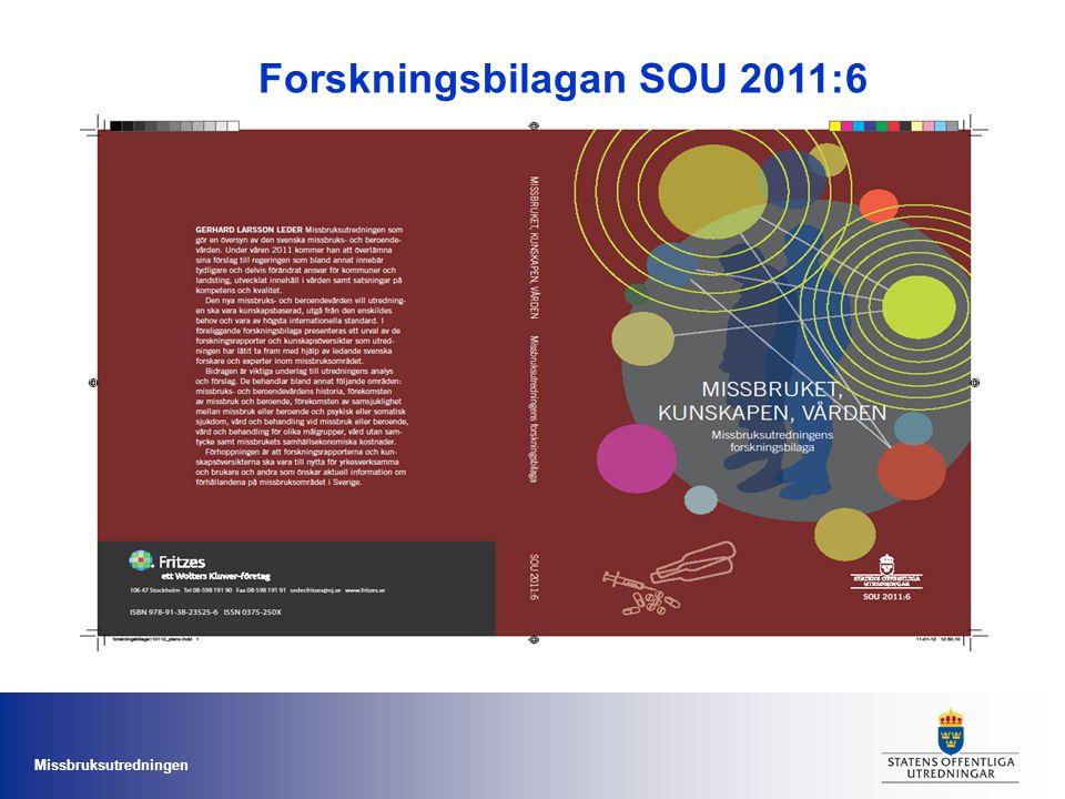 Forskningsbilagan SOU 2011:6