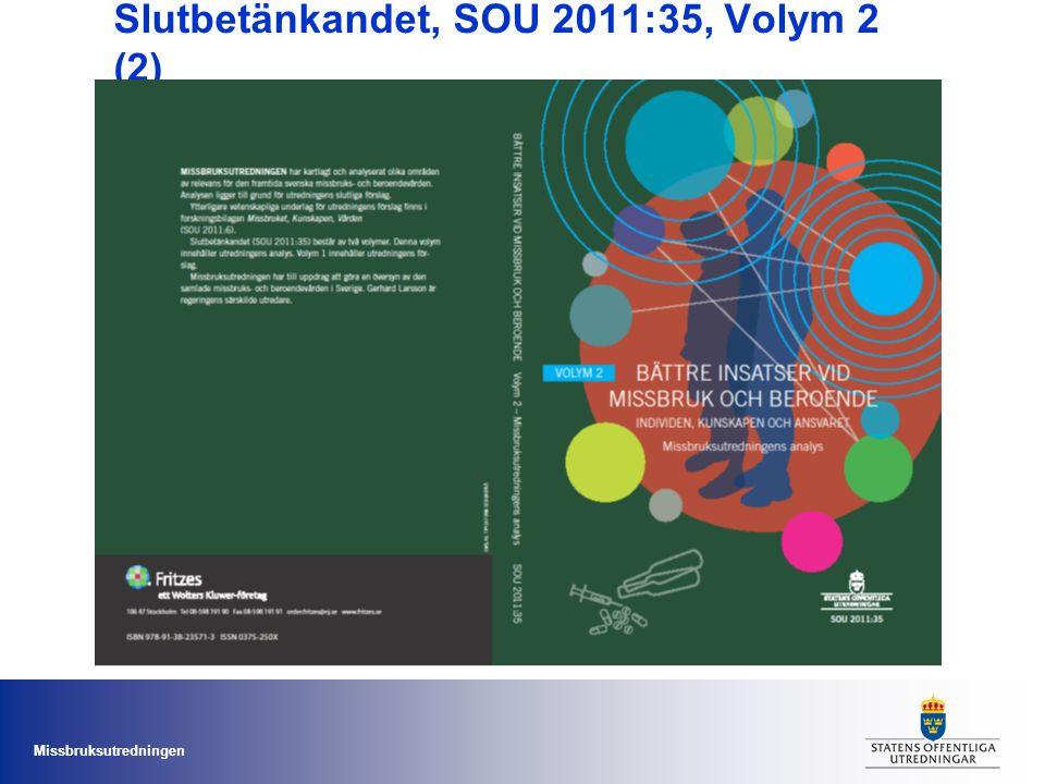 Slutbetänkandet, SOU 2011:35, Volym 2 (2)
