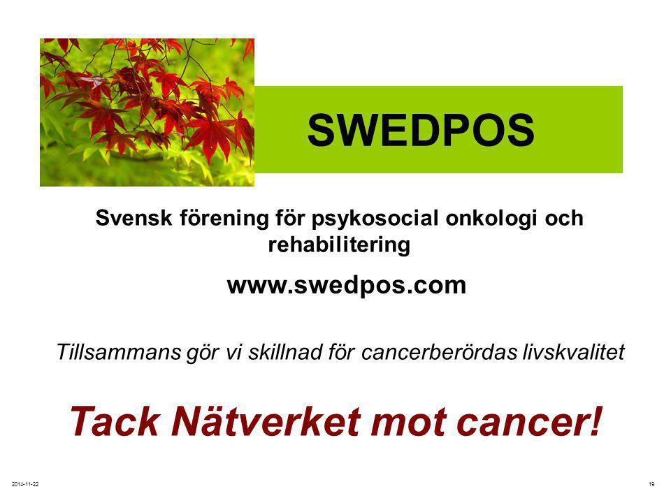 Svensk förening för psykosocial onkologi och rehabilitering