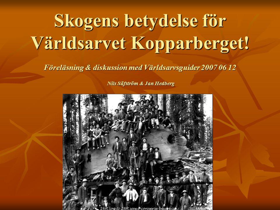 Skogens betydelse för Världsarvet Kopparberget