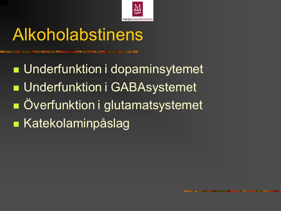 Alkoholabstinens Underfunktion i dopaminsytemet