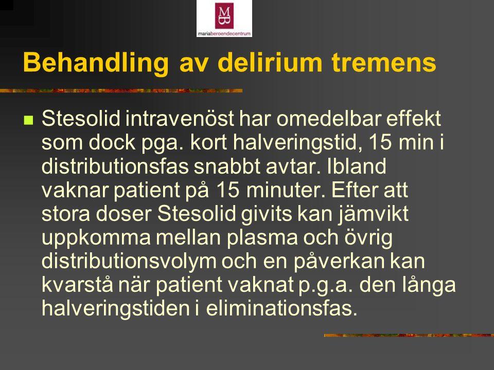 Behandling av delirium tremens