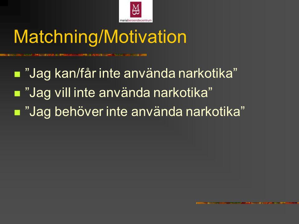 Matchning/Motivation