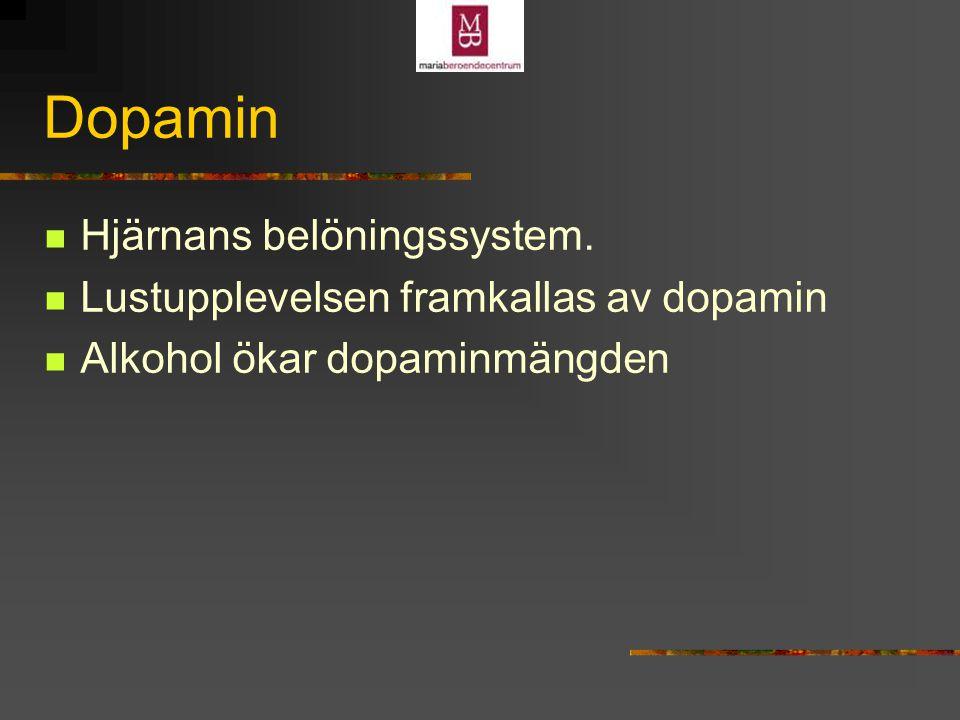 Dopamin Hjärnans belöningssystem.