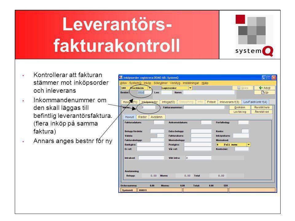 Leverantörs-fakturakontroll