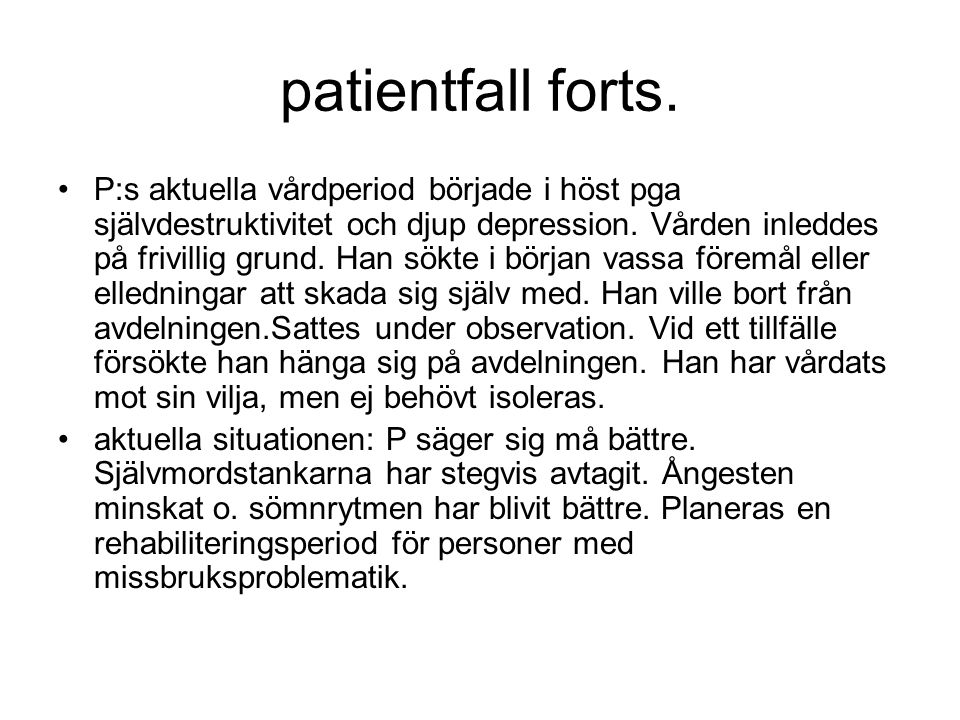 patientfall forts.