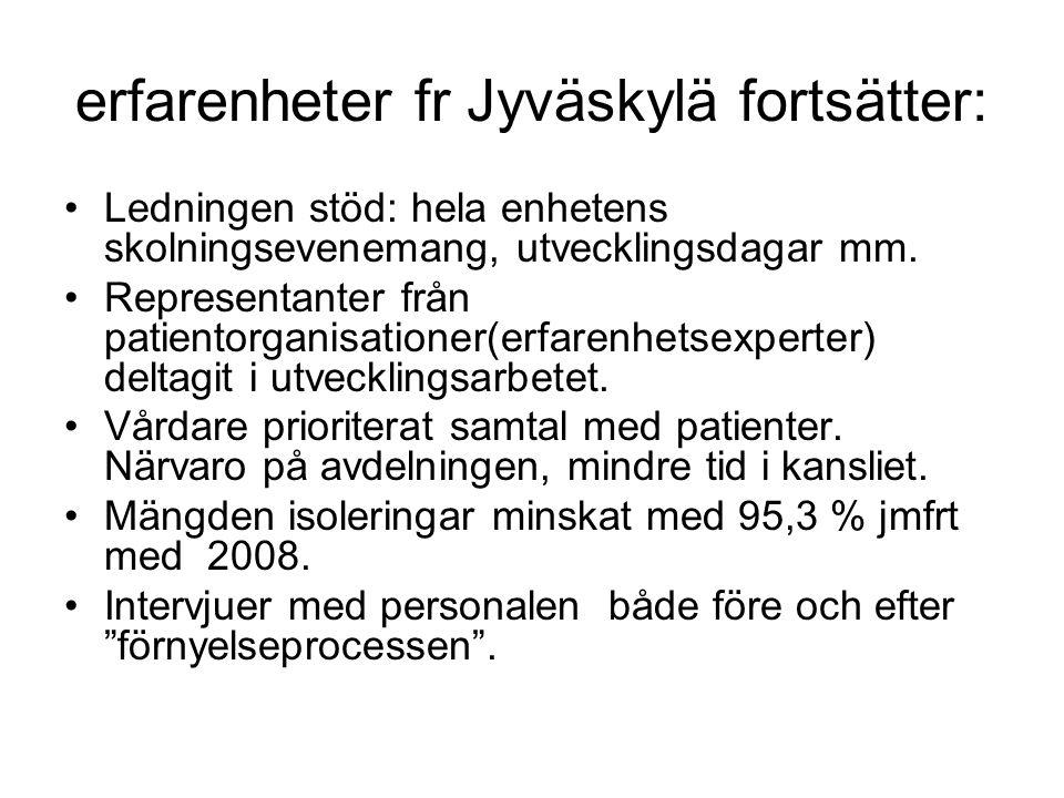erfarenheter fr Jyväskylä fortsätter: