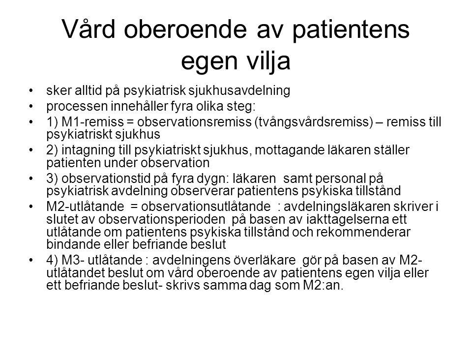 Vård oberoende av patientens egen vilja